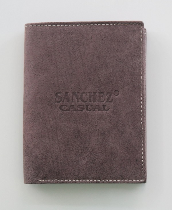 Hnědá pánská kožená peněženka SANCHEZ Casual na výšku