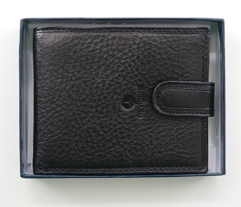 Černá pánská kožená peněženka Navigare podélná