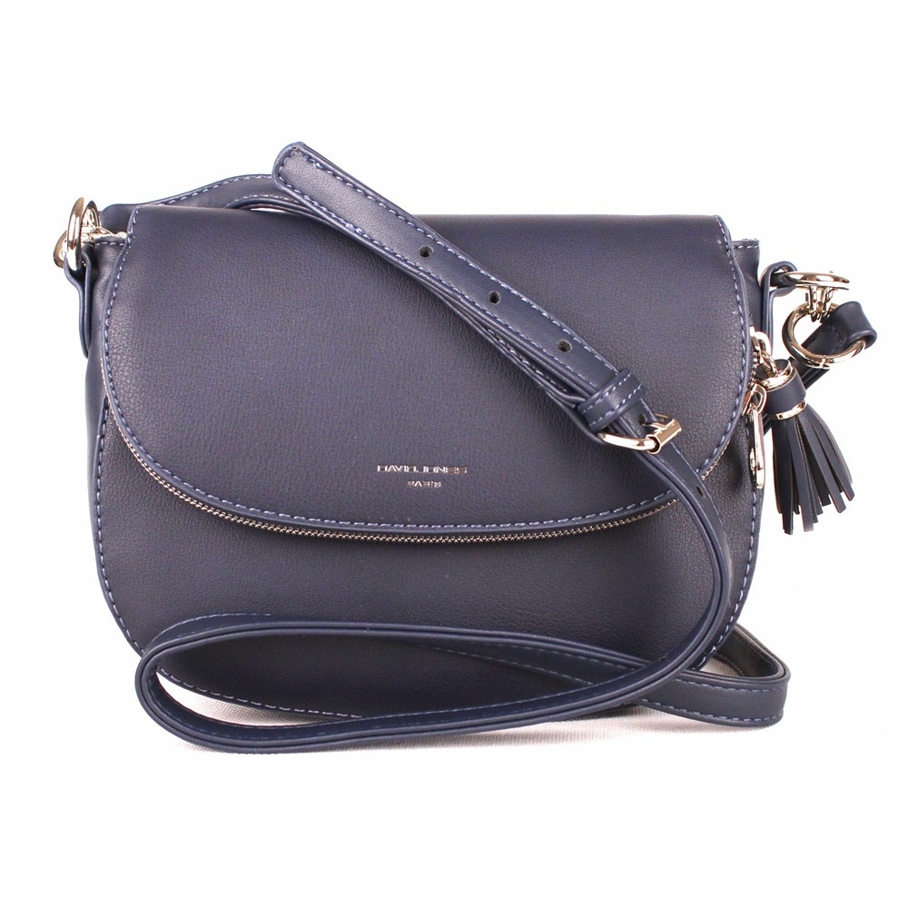 Tmavěmodrá crossbody kabelka David Jones 5824-1