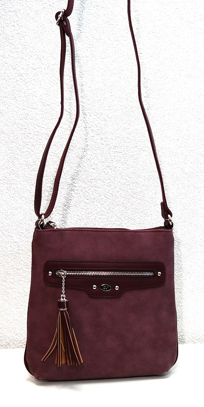Crossbody David Jones 5276-1 fialová (švestková)