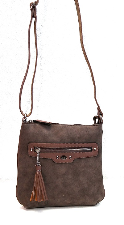 Crossbody David Jones 5276-1 hnědošedá