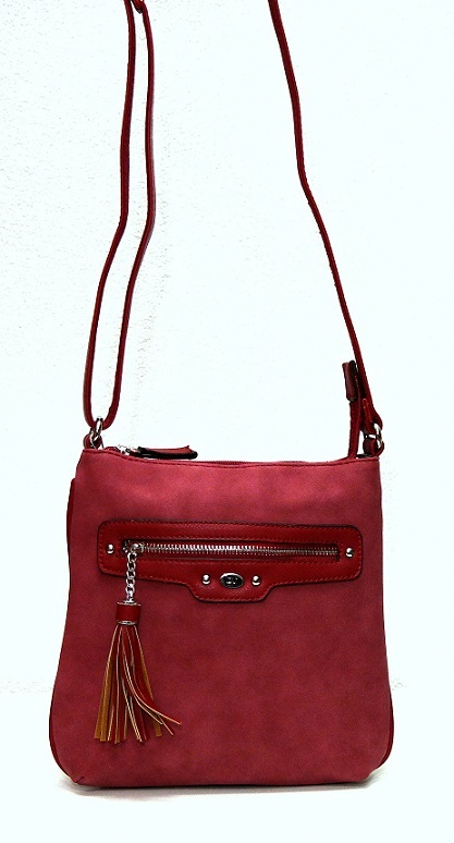 Crossbody David Jones 5276-1 červená (bordeaux)