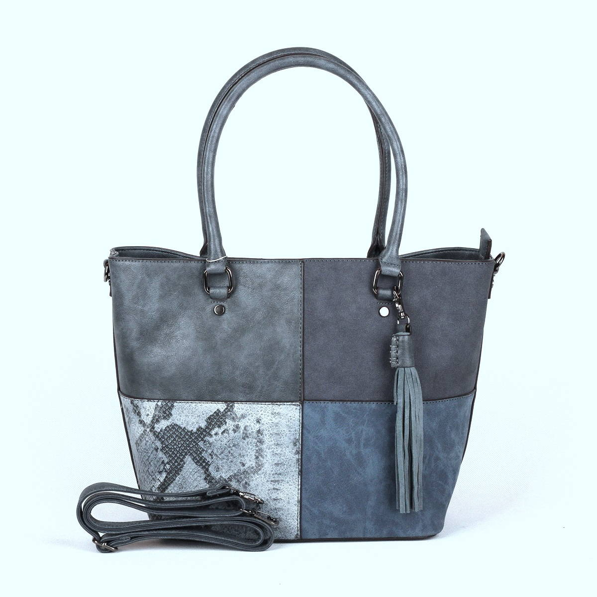 6f6c189787 Modrá kabelka do ruky i na rameno David Jones CM3233 empty