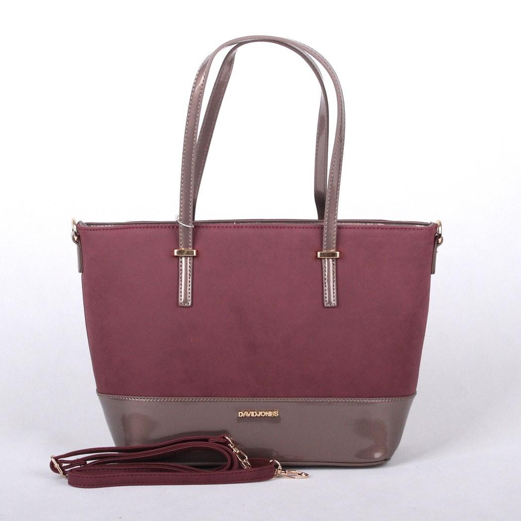 Tmavěčervená až fialová kabelka do ruky i na rameno David Jones 5609-2 empty adc8985c367