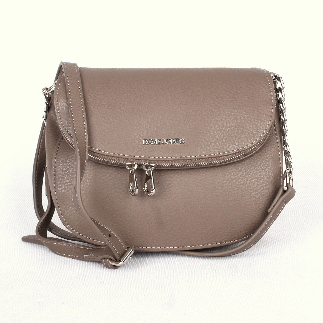 Hnědošedá (taupe) crossbody kabelka David Jones 5602-1