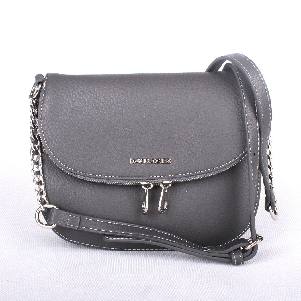 Šedá crossbody kabelka David Jones 5602-1