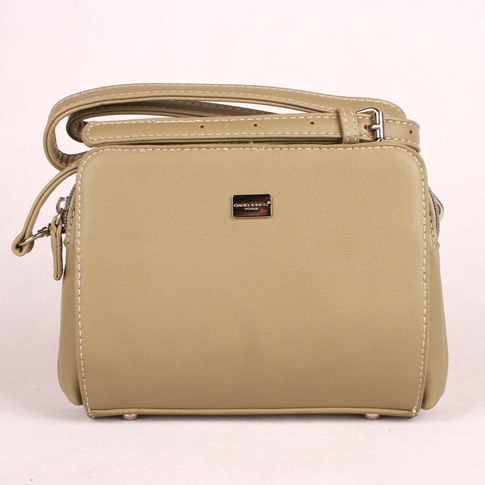 Malá zelená (khaki) crossbody kabelka David Jones CM3741 791a270e46c
