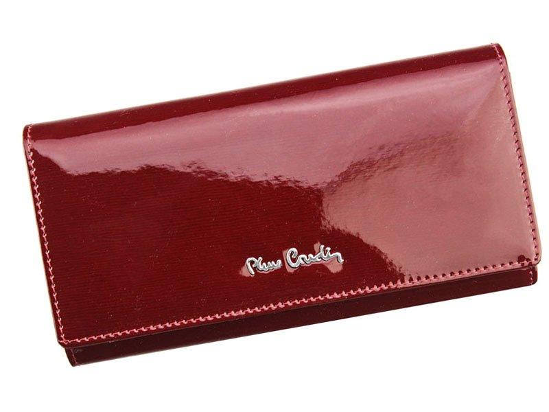 9fa96a80c2 Červená lesklá kožená peněženka Pierre Cardin 05 LINE 106