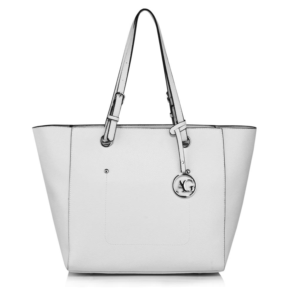 Bílá velká kabelka do ruky i na rameno AG00532 empty ccb70f3edd3