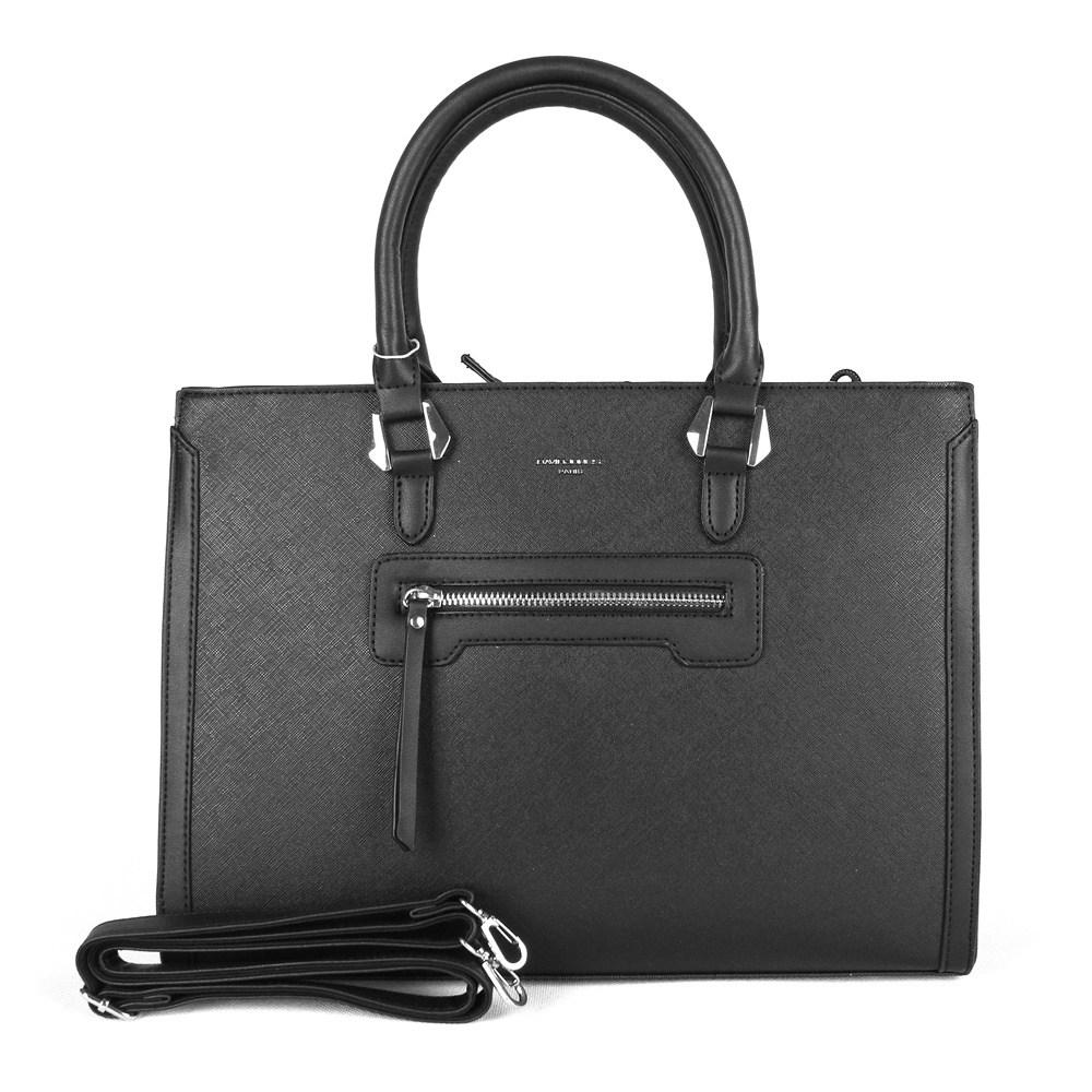 Černá velká elegantní kabelka do ruky David Jones CM3902 7ea6a3b38ef