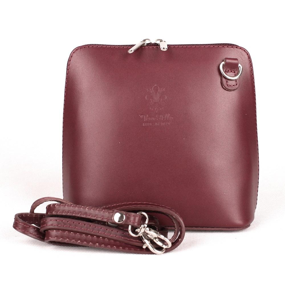 8a1e670149 Fialová malá kožená crossbody kabelka no. 55