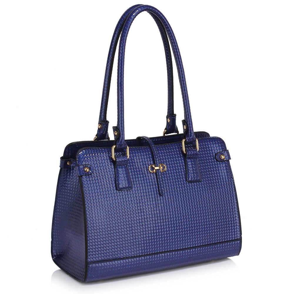 7b4b084028 Modrá kabelka na rameno i do ruky LS00306