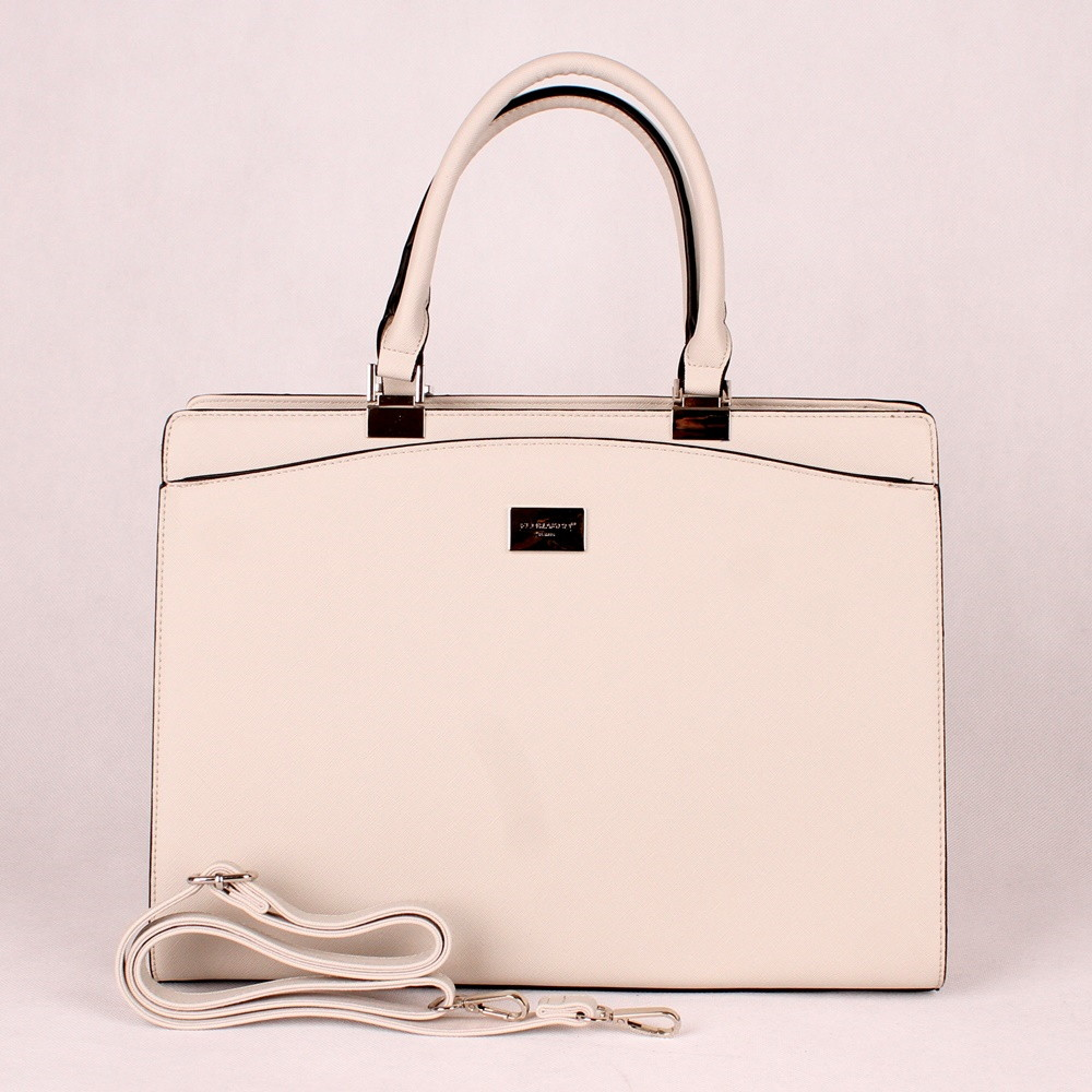 Krémově světlešedá velká elegantní kabelka do ruky FLORA CO F6518 empty 095325fa734