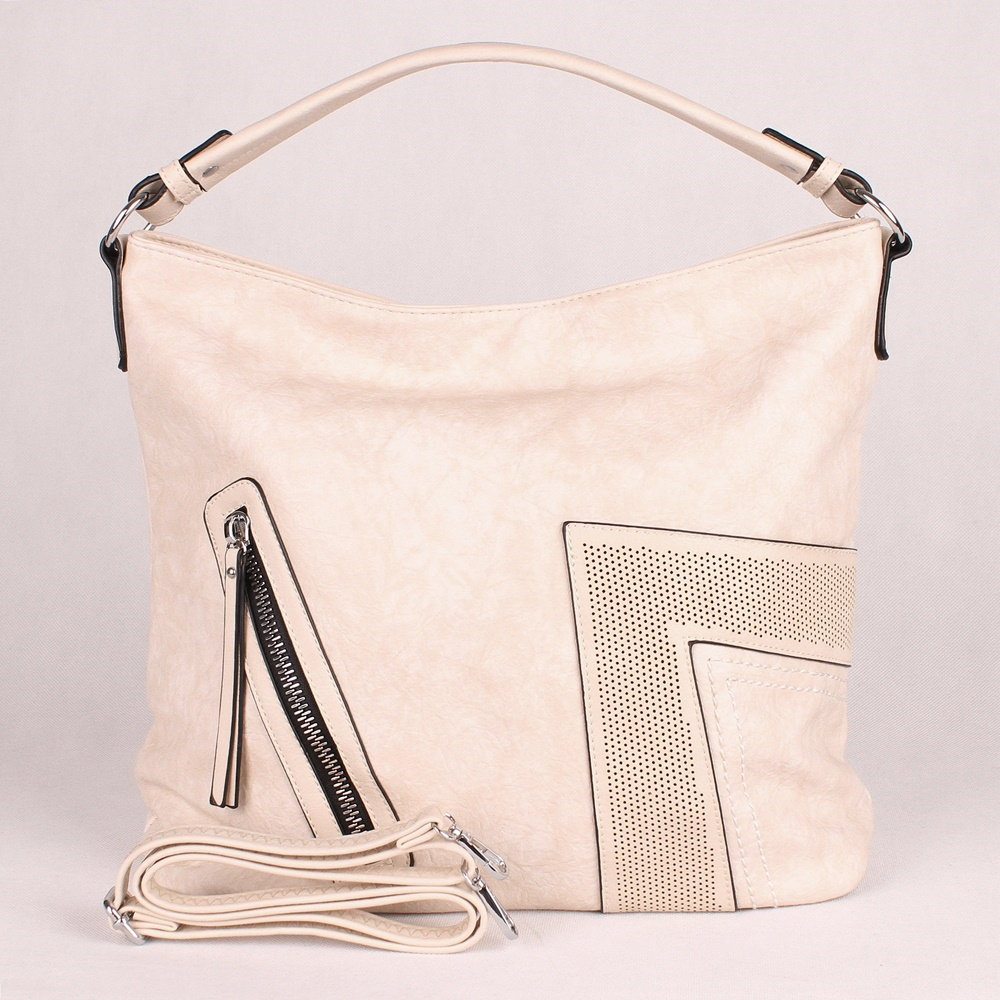 e9181e6a41 Velká béžová kabelka na rameno i crossbody Urban Style art. 6056