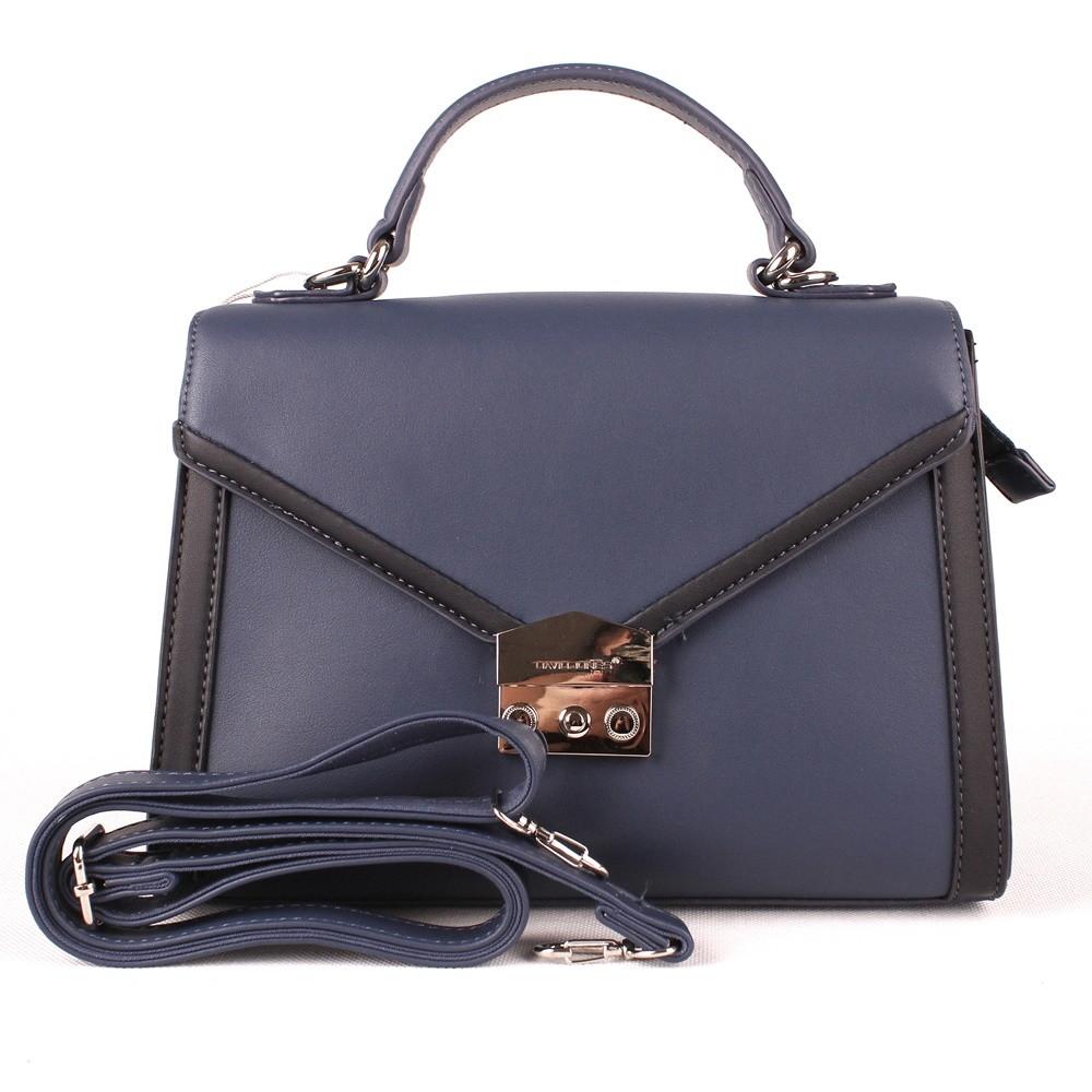 Modrá pevná kabelka (aktovka) do ruky či na rameno David Jones 5947-2 empty 64248d6f349