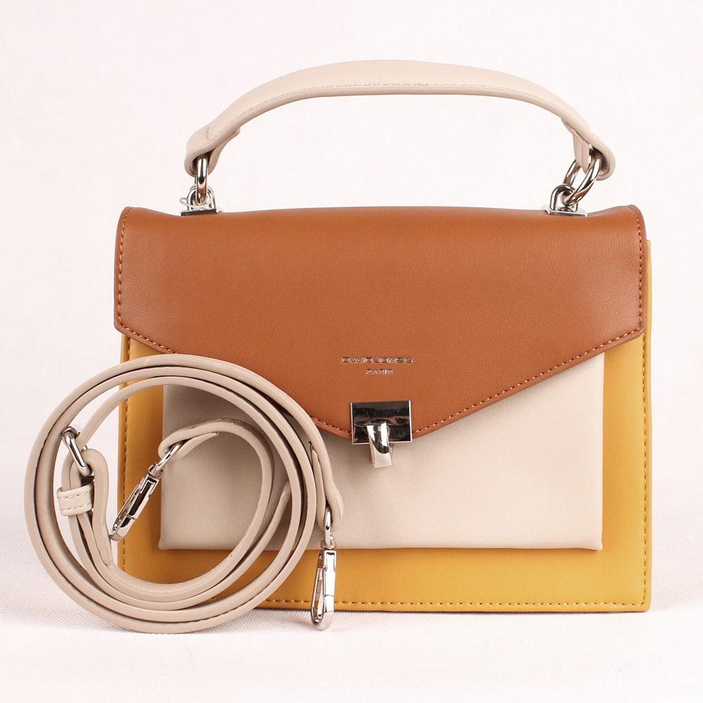 Malá žlutá pevná kabelka (aktovka) do ruky či na rameno David Jones CM5026 86a4bd4a20
