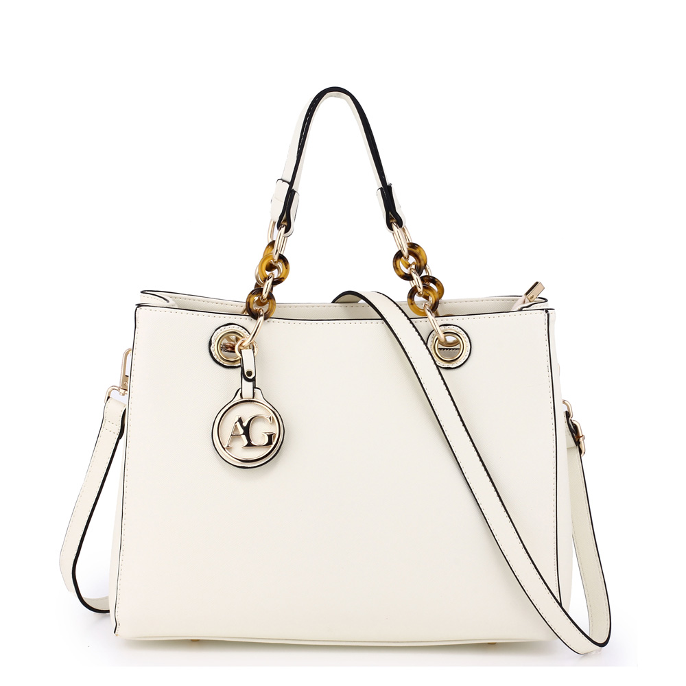 ccf3cd8a181 Elegantní bílá kabelka do ruky AG00536A