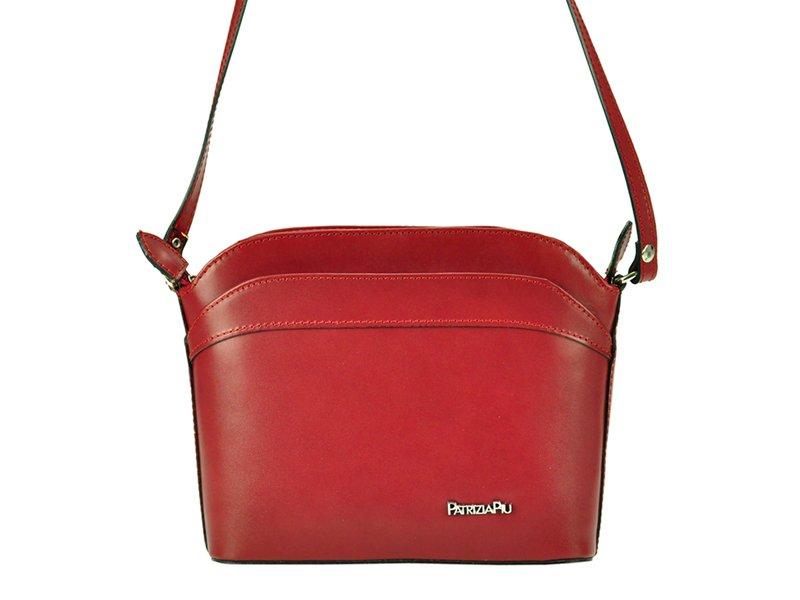 Červená malá kožená crossbody kabelka Patrizia Piu no. 814079e5f5