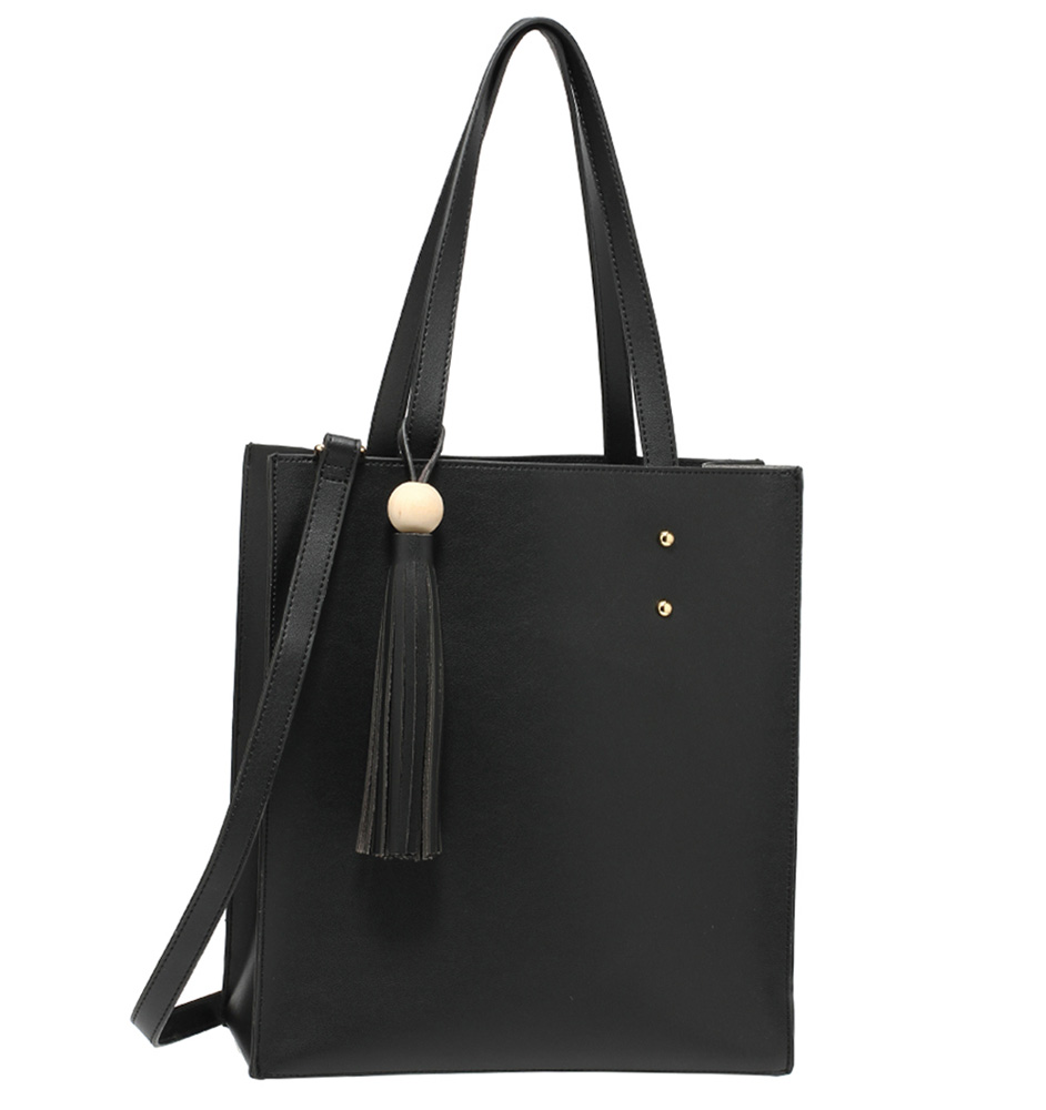 d8c19b1a7 Černý set 2v1: středně velká kabelka na rameno + malá utue AG00594