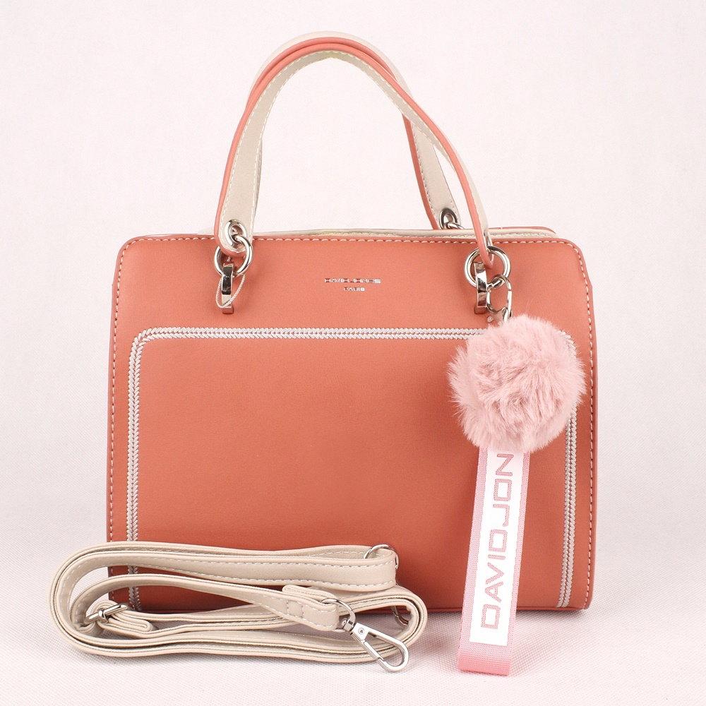 74a6ba7409 Malá střední růžovo-oranžová kabelka do ruky David Jones 5993-2