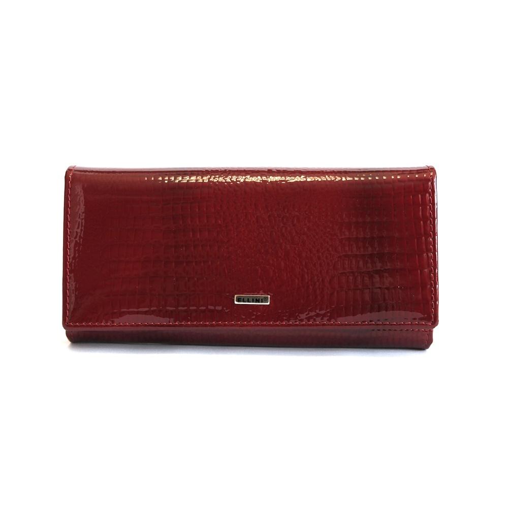 825edda81 Lesklá červená kožená peněženka Ellini CDF-64-369 empty