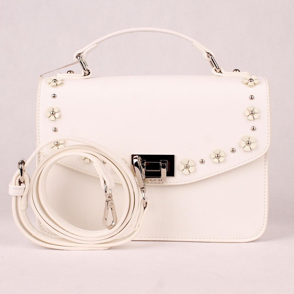 12053850b8 Malá bílá kabelka (aktovka) do ruky či na rameno David Jones CM5033