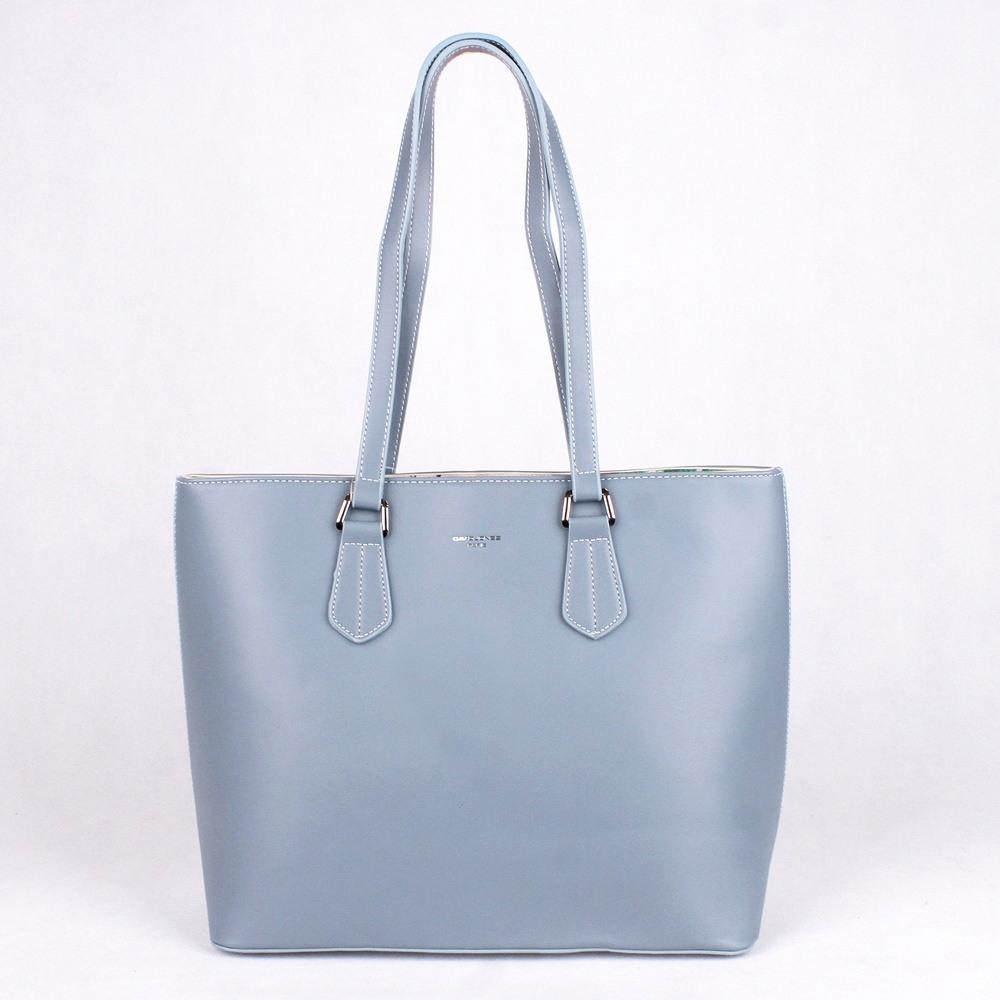 bde761d61c Velká modrá shopperbag kabelka na rameno David Jones 5901-2 empty