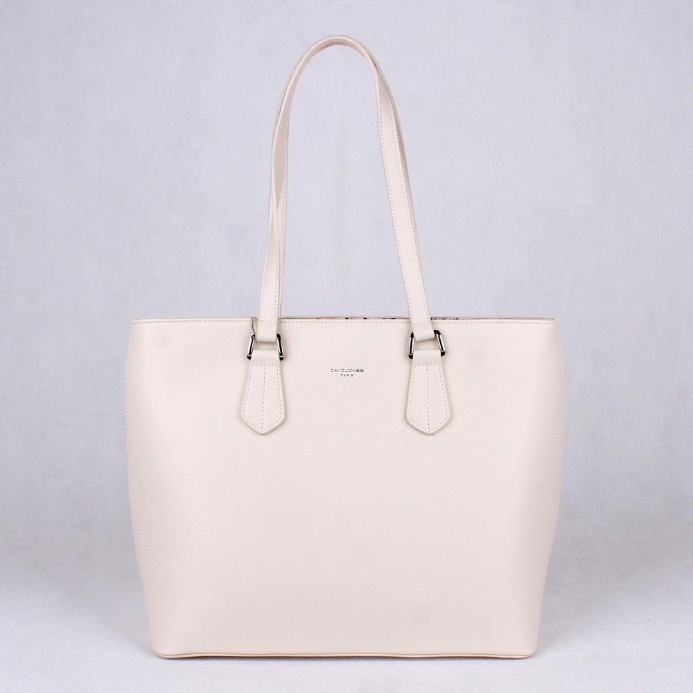 8cf87b405b Velká bílá shopperbag kabelka na rameno David Jones 5901-2 empty