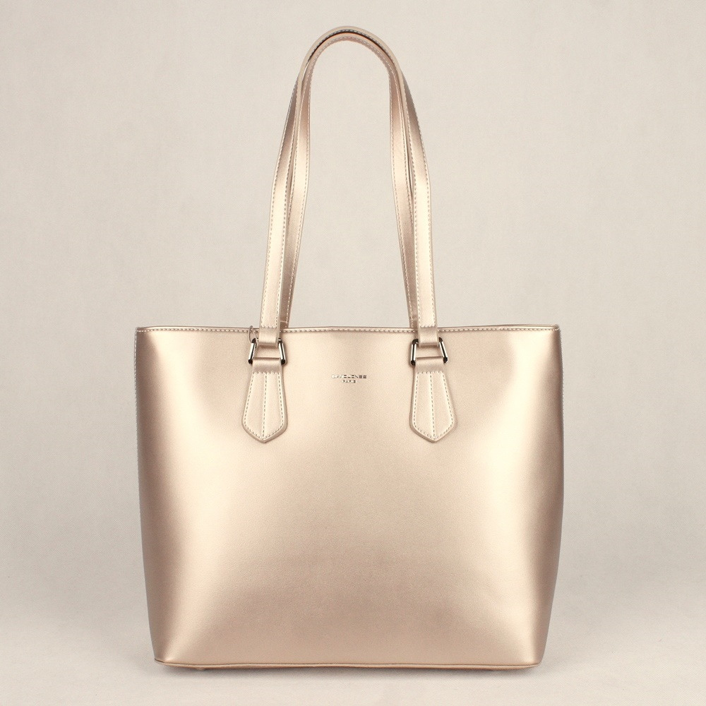 b53773e8c6 Velká zlatá shopperbag kabelka na rameno David Jones 5901-2 empty