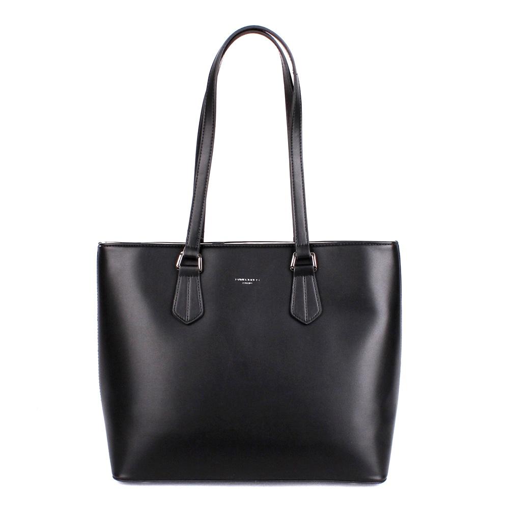 858ce95cc311 Velká černá shopperbag kabelka na rameno David Jones 5901-2 empty