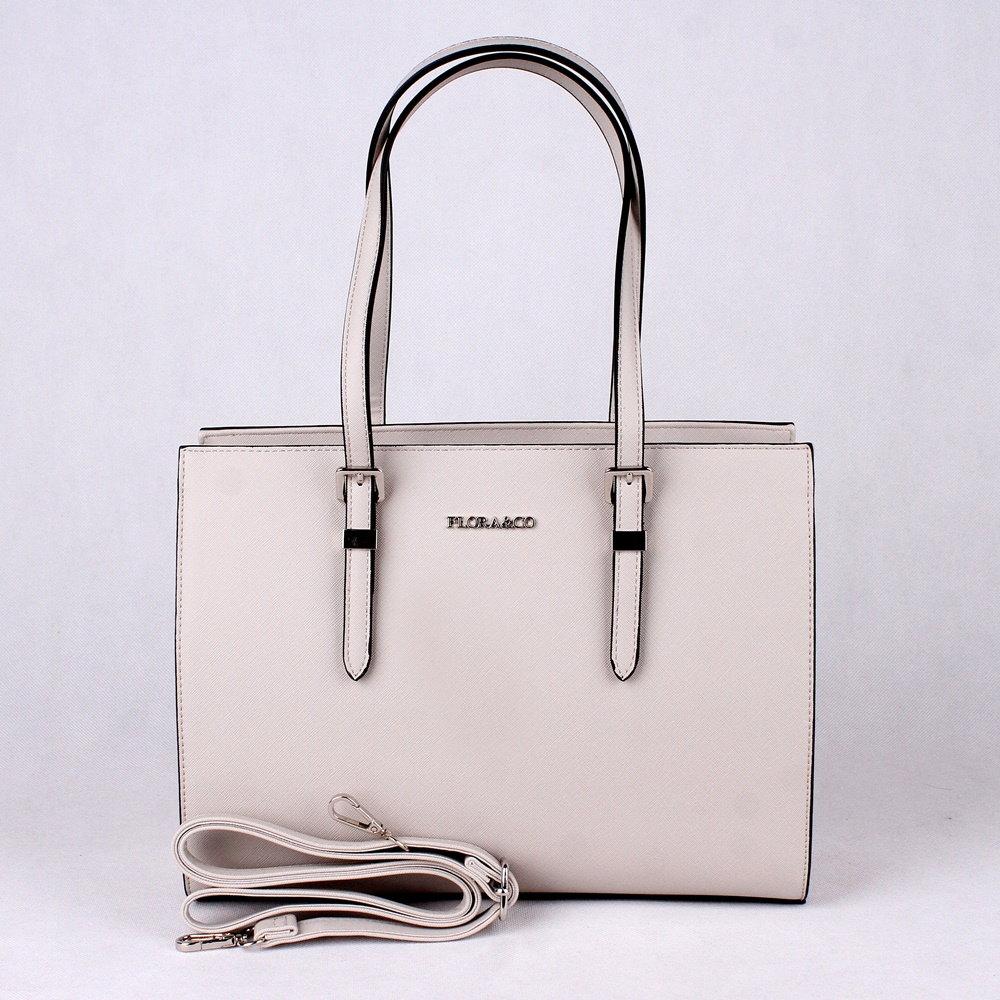8d2760cc5 Světlešedá středně velká elegantní kabelka na rameno FLORA&CO F6543 empty