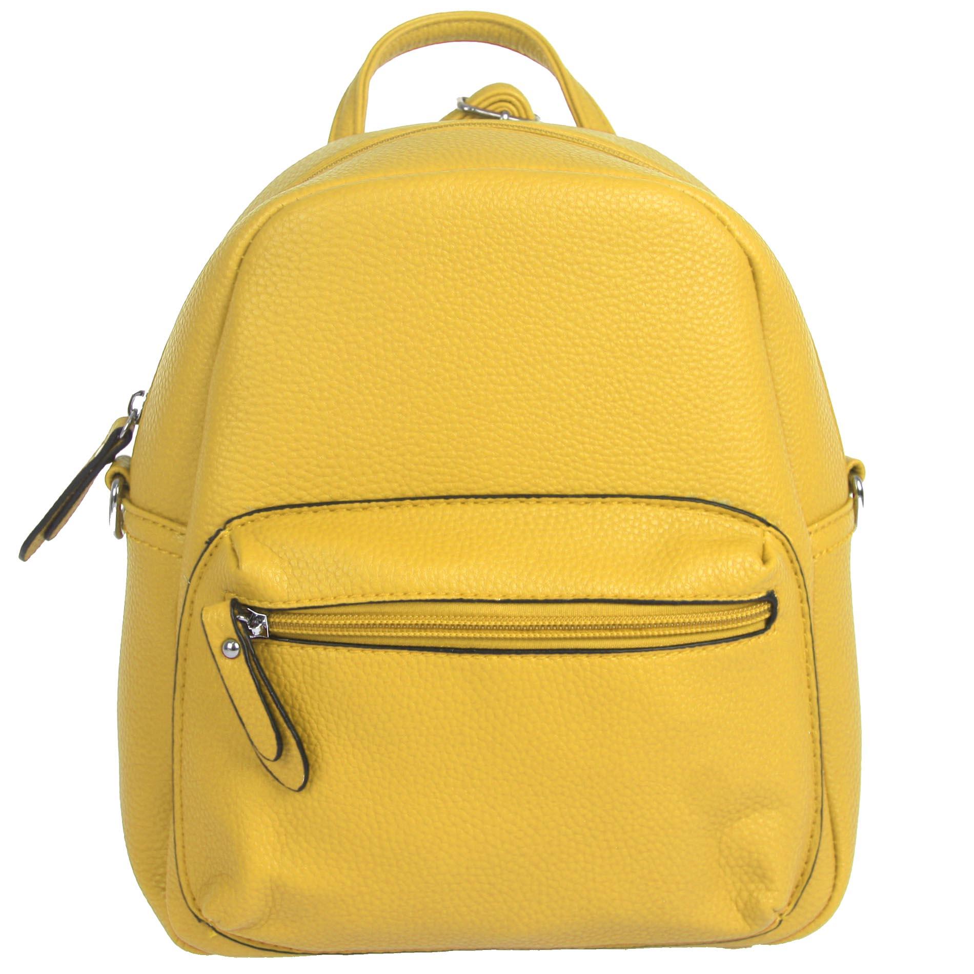 f75ac0f93f Malý žlutý batoh   kabelka Eric Style B2966 empty