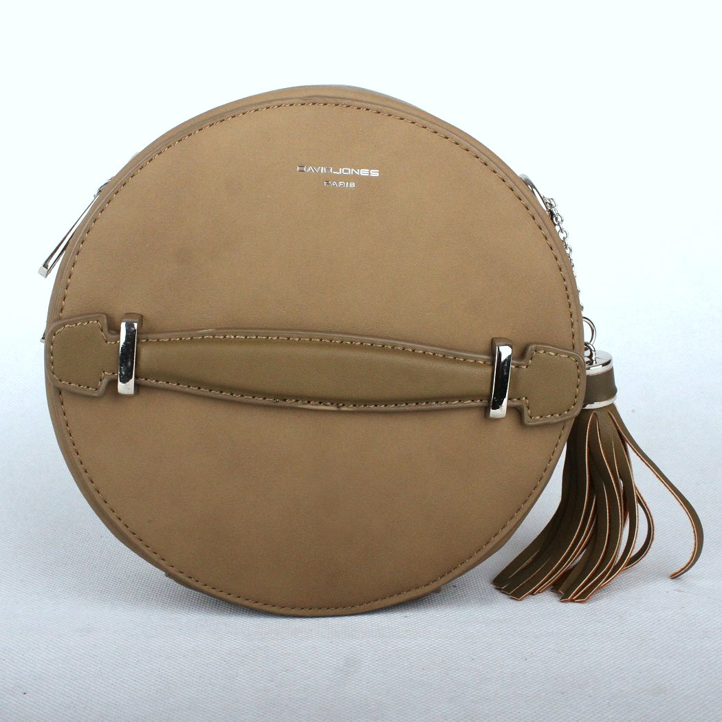 4fbaeab02f Hnědozelená (khaki) kulatá kabelka na rameno David Jones CM3590