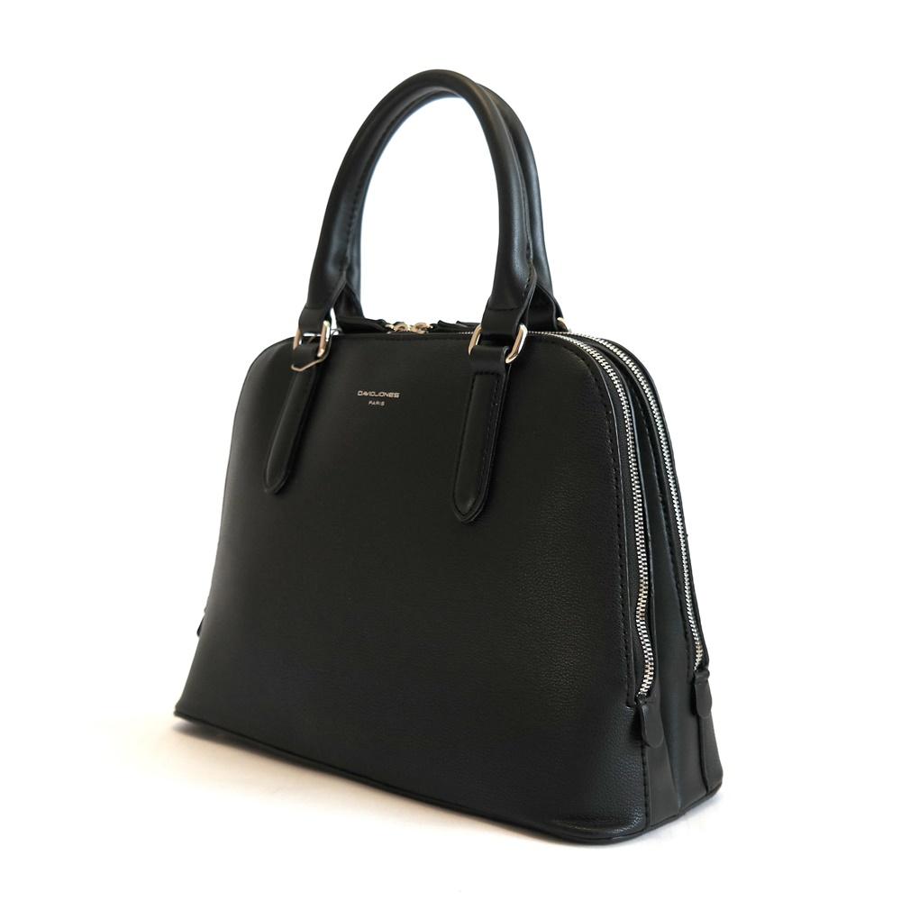 Dvousekční černá kabelka do ruky David Jones CM3945A  b6089573085