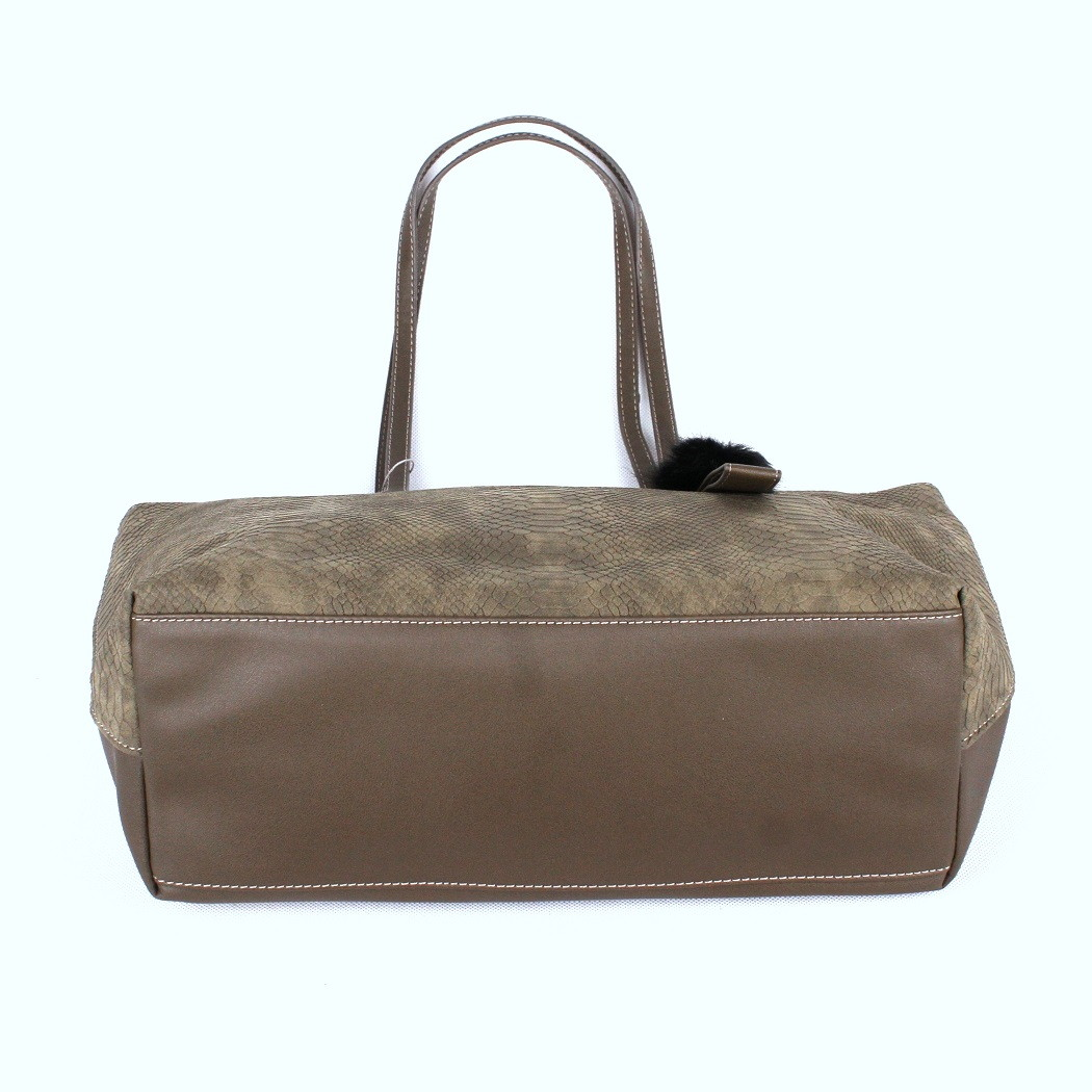 Velká khaki kabelka na rameno David Jones CM3538 38e145835f7