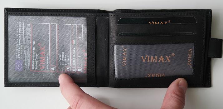 černá pánská kožená peněženka vimax podélná oázakabelek cz