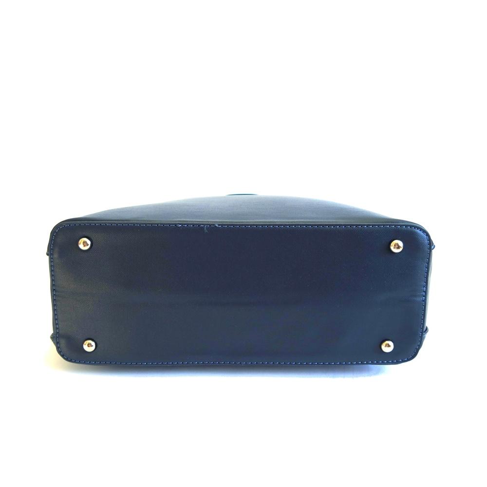 b3727b0bf3 Tříoddílová tmavěmodrá kabelka do ruky David Jones 5803-2