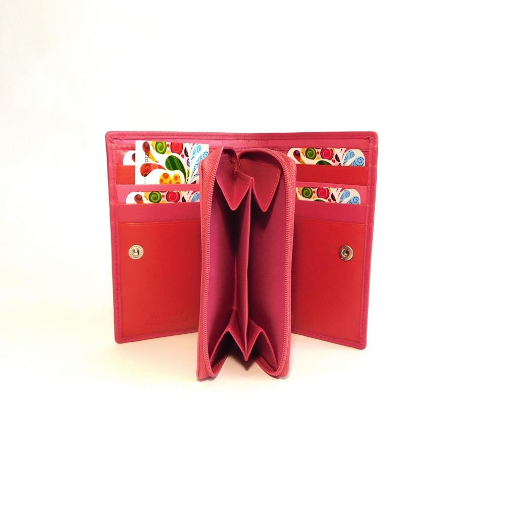 Růžová kožená peněženka Vera Pelle CL401  a6e13cd6853